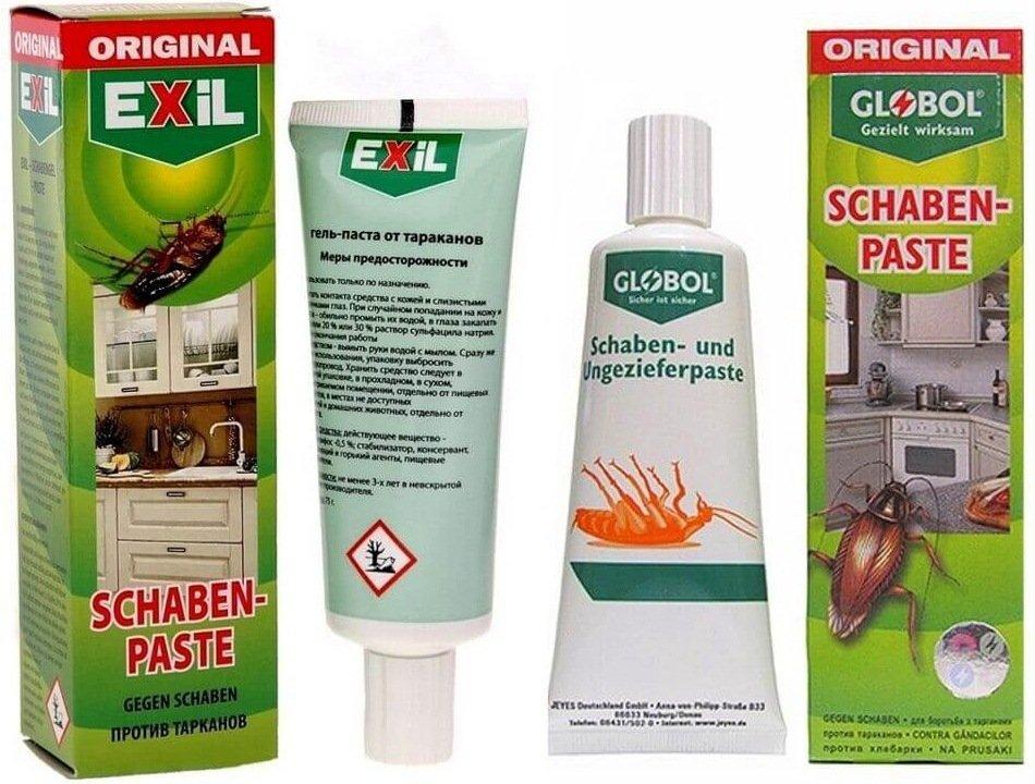 Средство globol от тараканов и еxil shaben pаste: описание немецкой пасты глобал, отзывы