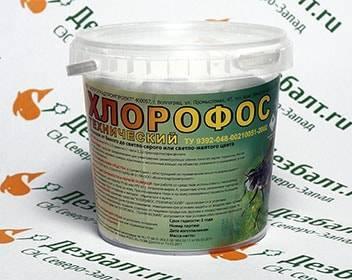 Хлорофос от клопов: применение средства
