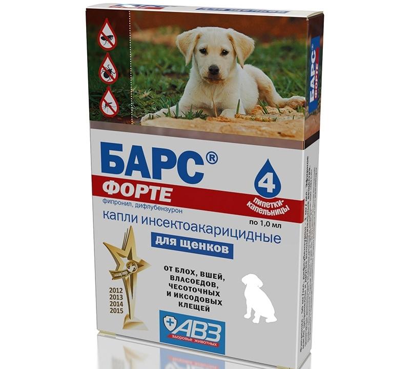 Капли барс форте для собак - инструкция по применению и отзывы