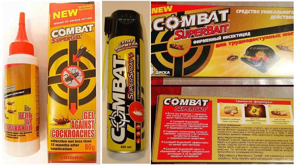 Средства от тараканов комбат: гели, ловушки супербайт и спреи, отзывы
