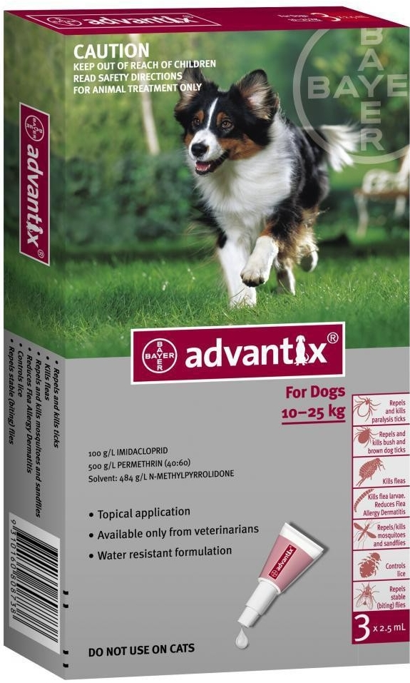 Адвантикс для собак – назначение, инструкция, отзывы