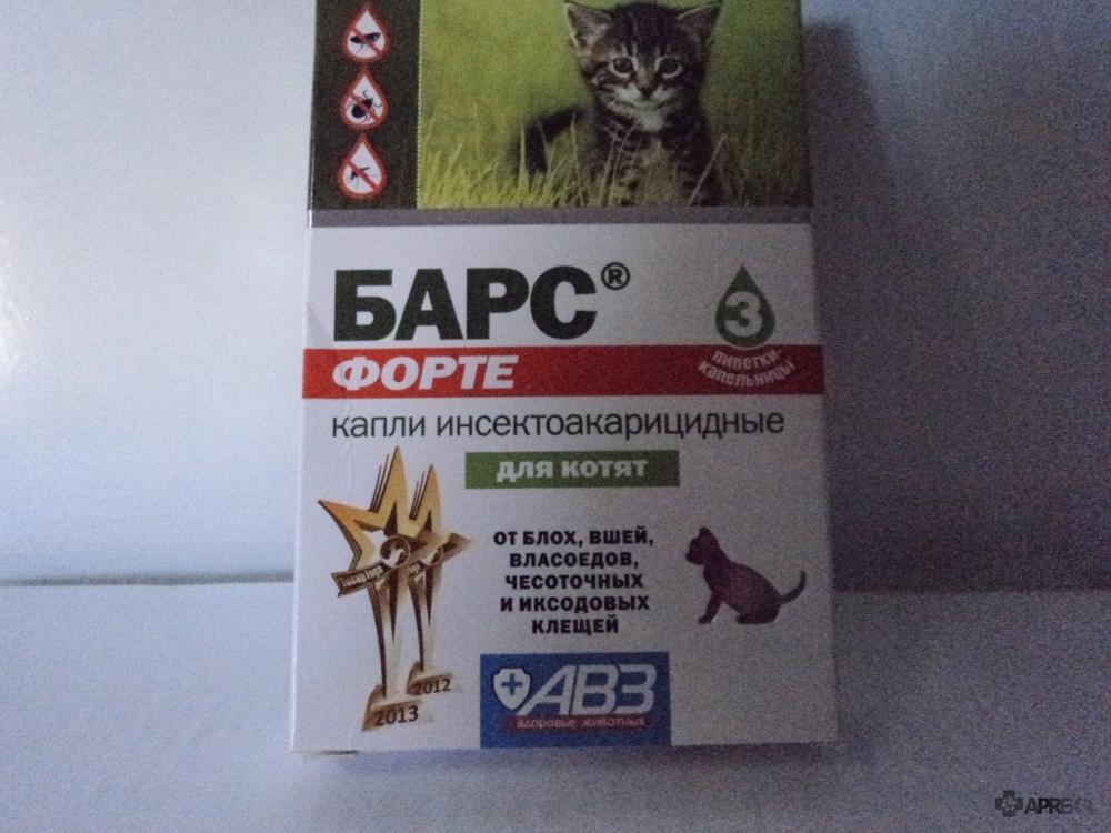 Капли на холку барс — комплексная защита кошки от эктопаразитов