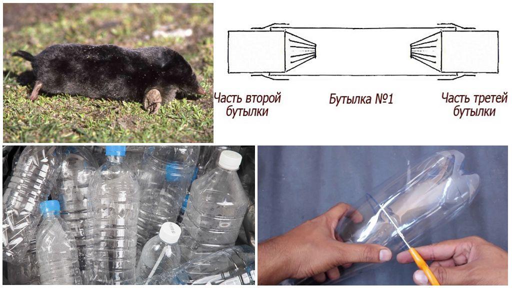 Как можно сделать кротоловку из пластиковых бутылок своими руками