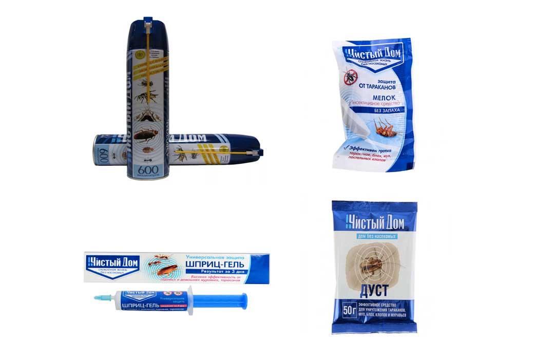 Шприц гель от тараканов «чистый дом» - химический состав и преимущества препарата