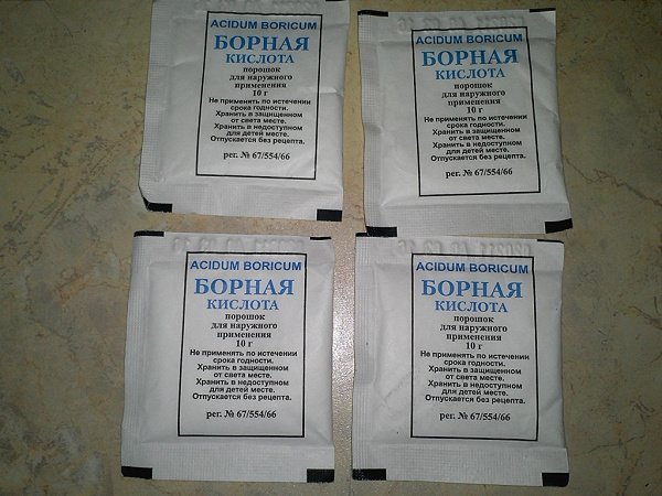 Борная кислота как средство от тараканов: подборка рецептов