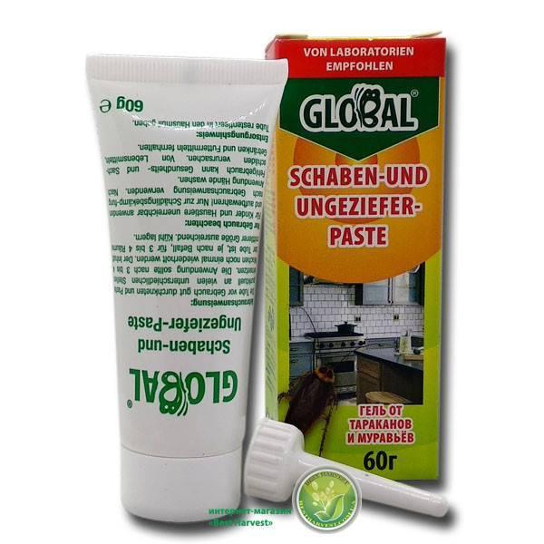 Глобал от тараканов (гель) – купить средство, отзывы