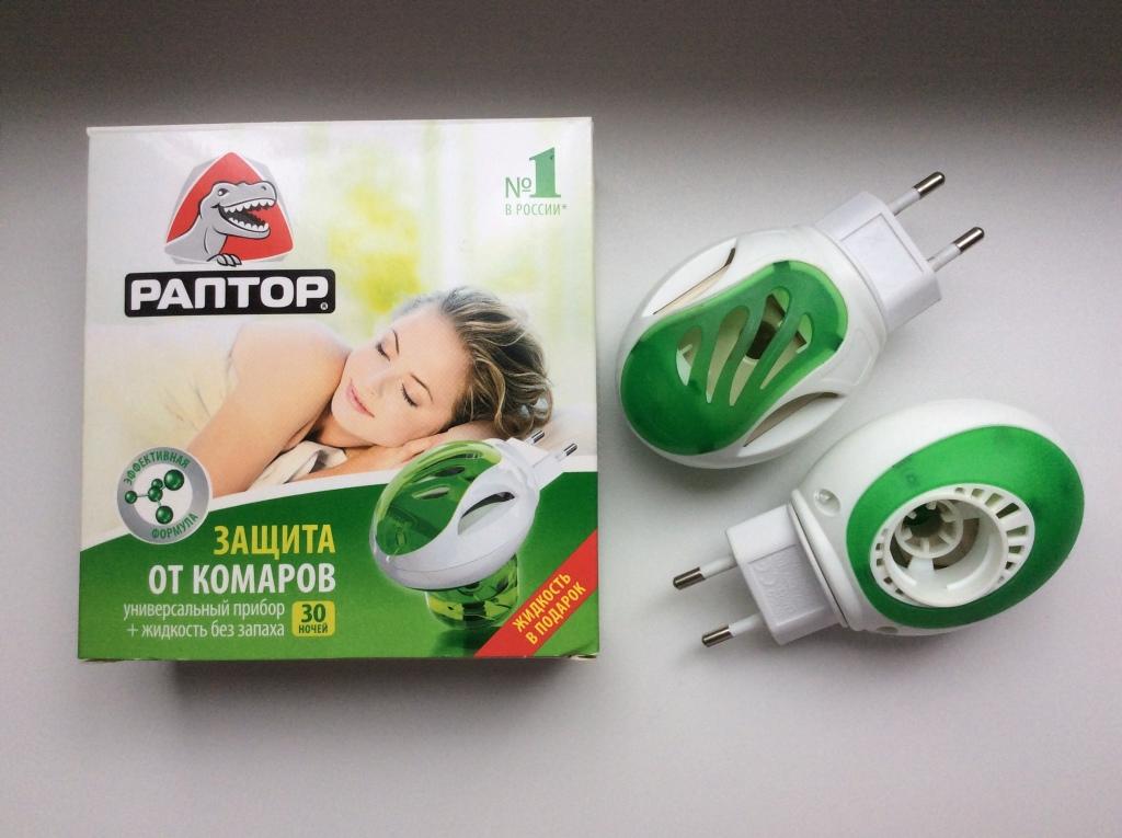 Раптор от комаров (фумигаторы с жидкостью и и пластинами, спирали, аэрозоли, спреи): как выбрать подходящее средство, отзывы
