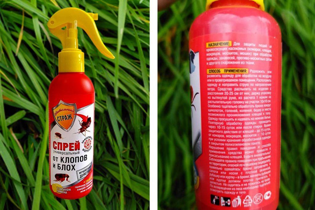 Спрей от клопов, аэрозоль для уничтожения клопов и блох, способы применения