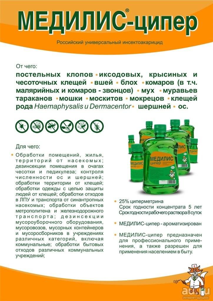 Циперметрин – состав, инструкция по применению