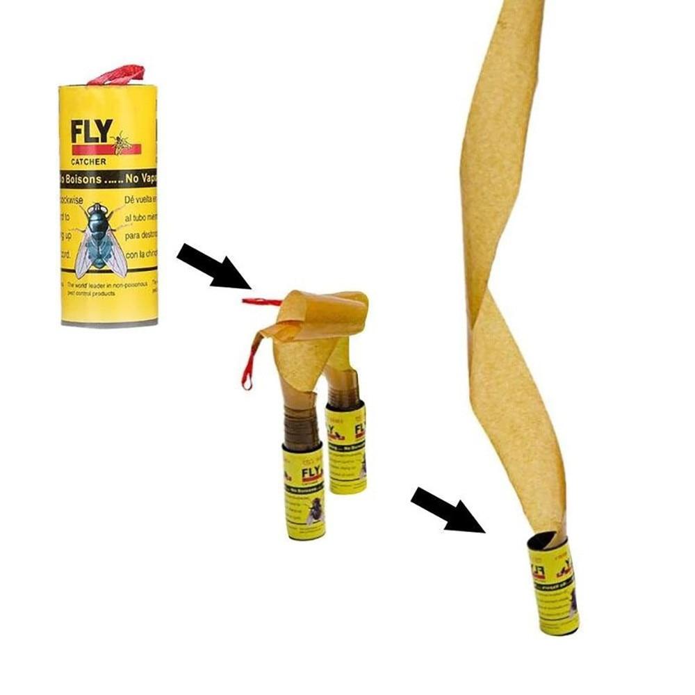 Как сделать липучку для мух в домашних условиях