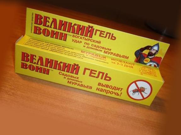 Великий воин гель от тараканов: способ применения и меры предосторожности