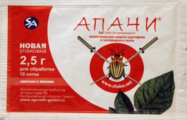 Апачи средство от колорадского жука: инструкция по применению для картофеля
