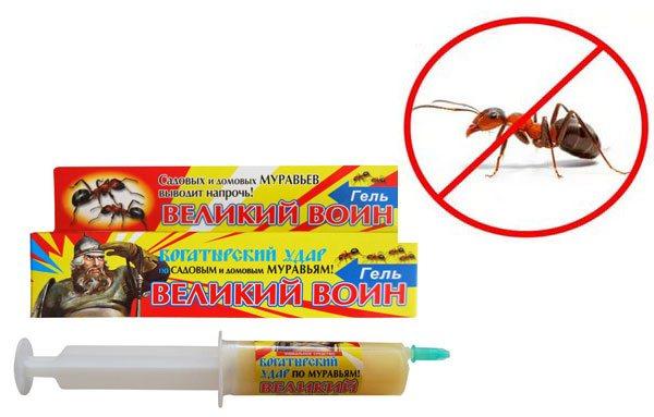 Гель от муравьев великий воин: инструкция по применению, фото, видео отзывы