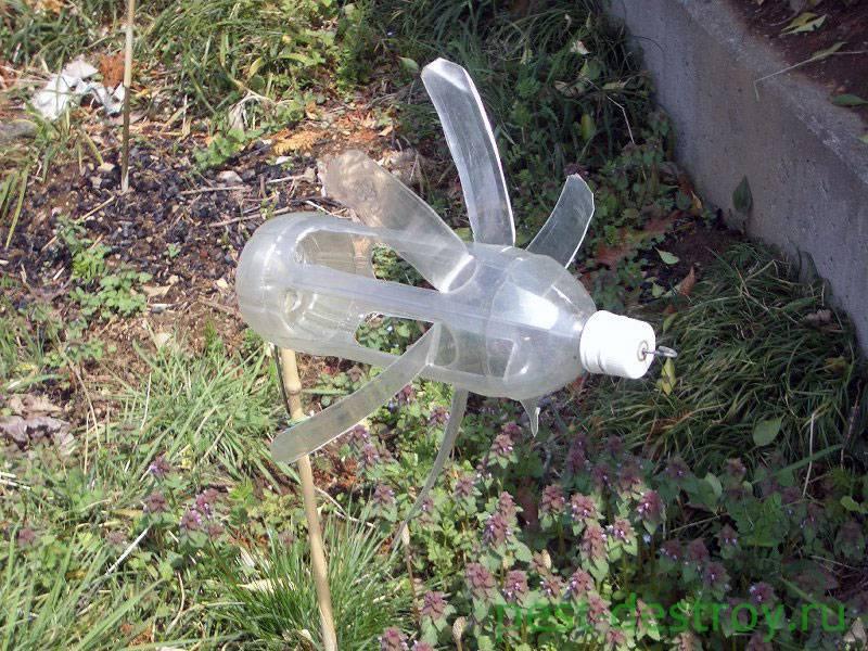 Отпугиватель кротов своими руками из пластиковой бутылки