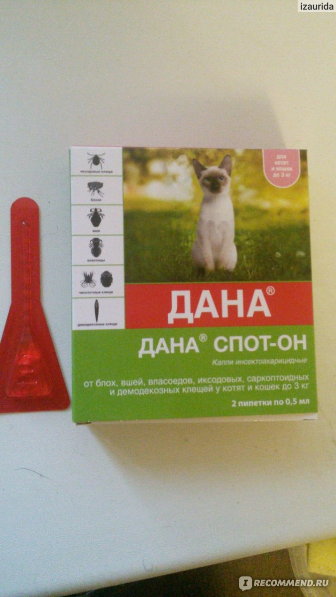 Apicenna дана ультра 1 пипетка 0,64 мл капли для кошек более 4 кг