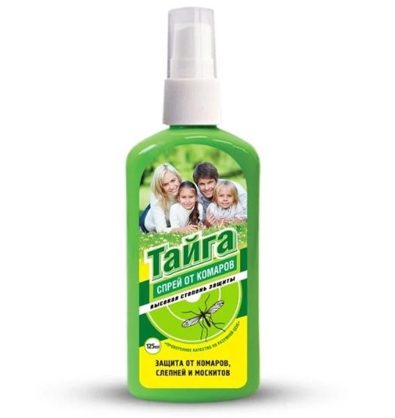 Средства тайга от комаров – спрей, крем, пластины, жидкость