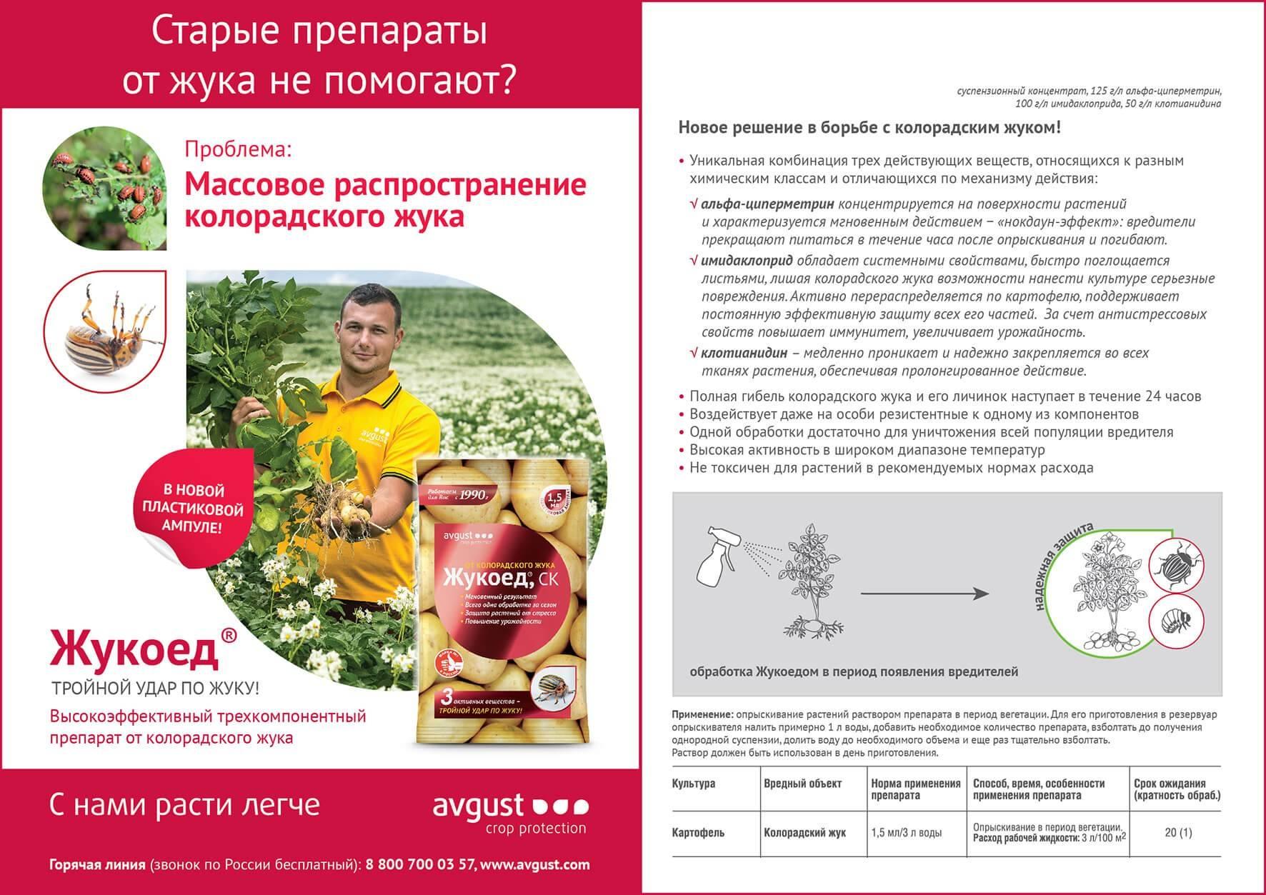 «жукоед» — для эффективной борьбы с колорадским жуком — ботаничка.ru