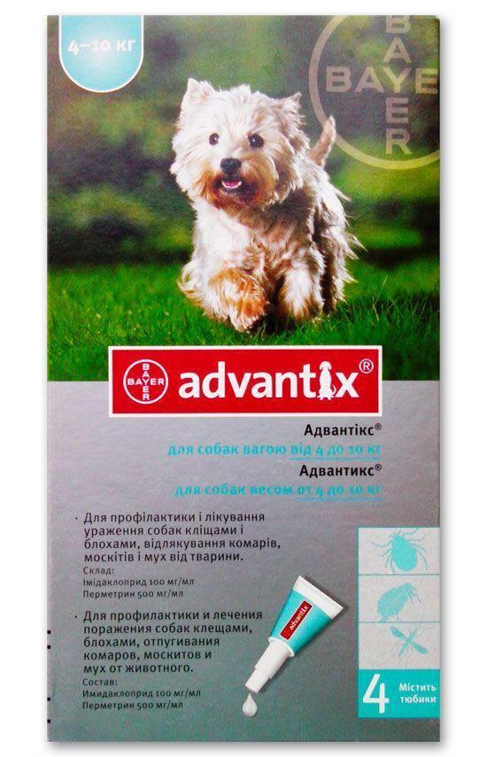 Инструкция, состав и способ нанесения препарата адвантикс от блох и клещей у собак