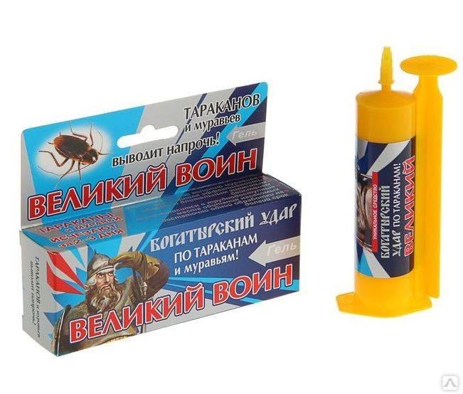 Великий воин гель от тараканов