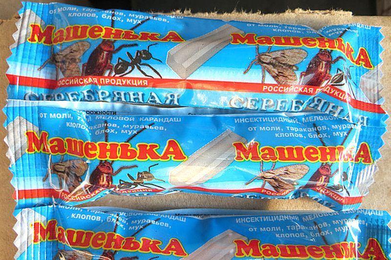 Карандаш или мелок машенька от тараканов: отзывы, инструкция, состав