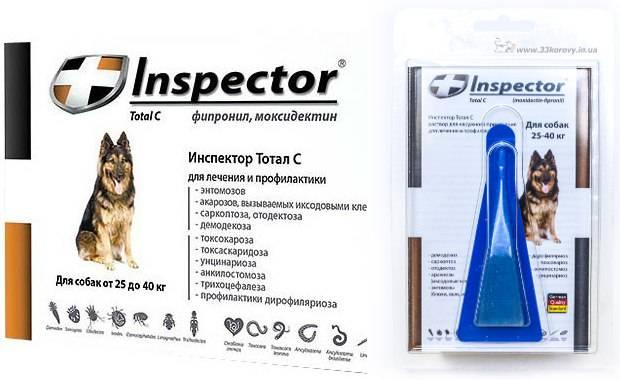Inspector капли для собак от 10 до 25 кг