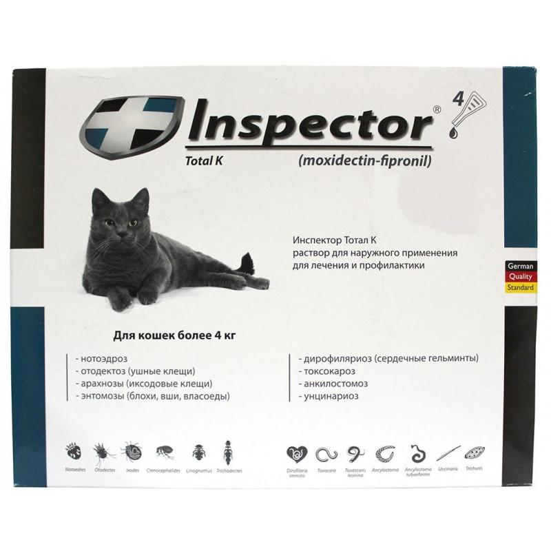 Капли инспектор для кошек инструкция   животный мир