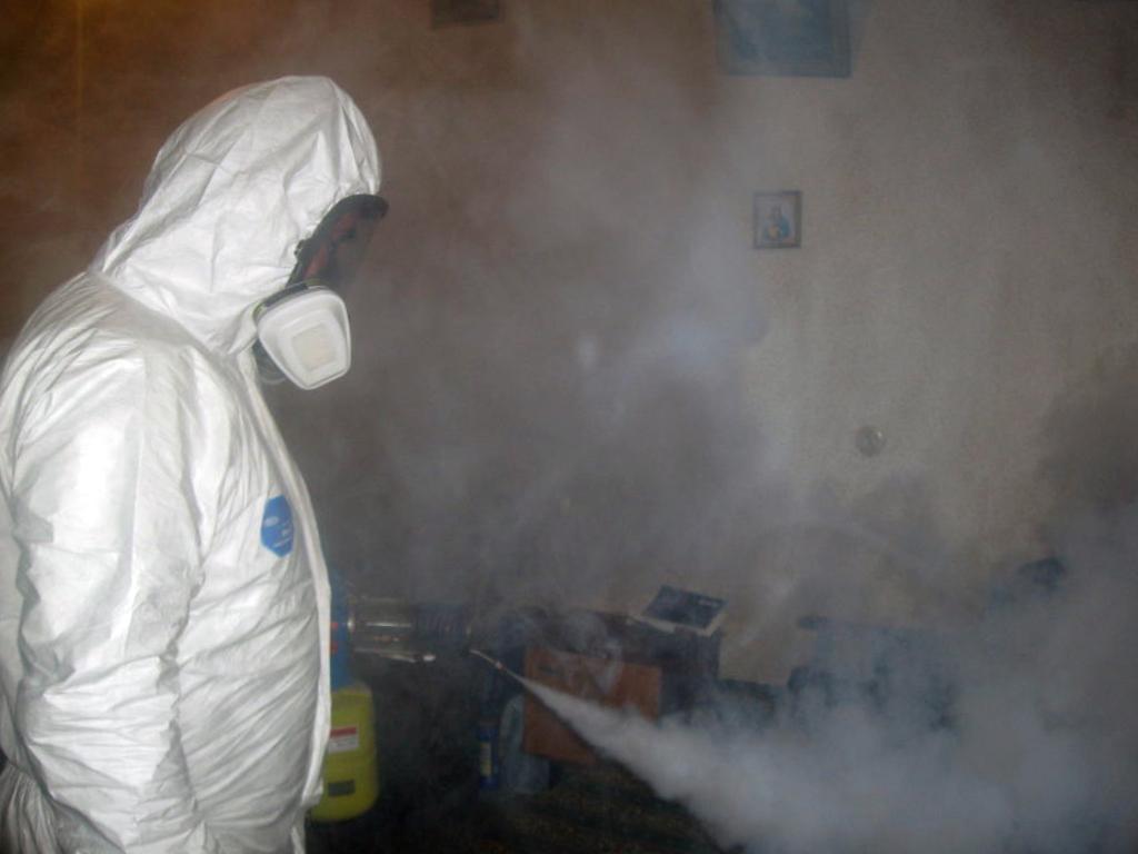 Обработка от тараканов горячим и холодным туманом