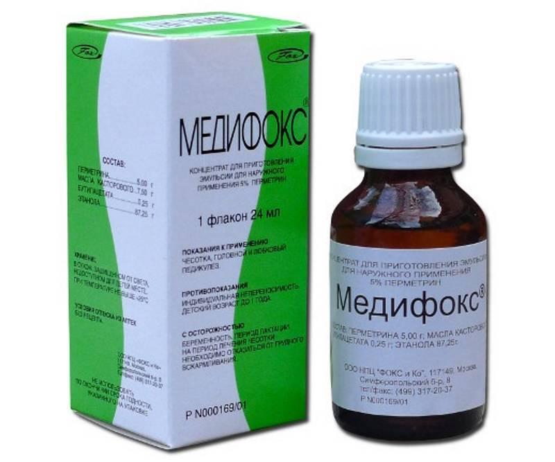 Медифокс: инструкция по применению препарата в форме геля и раствора при чесотке и педикулезе