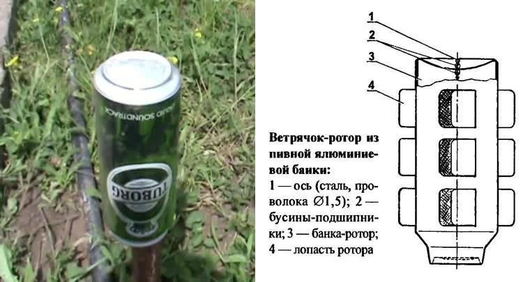 Как сделать вертушку из пластиковой бутылки своими руками
