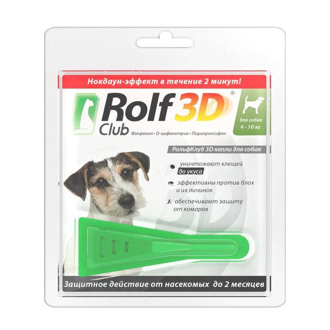 Рольф клуб 3д капли для собак: описание, инструкция и применение | все о собаках