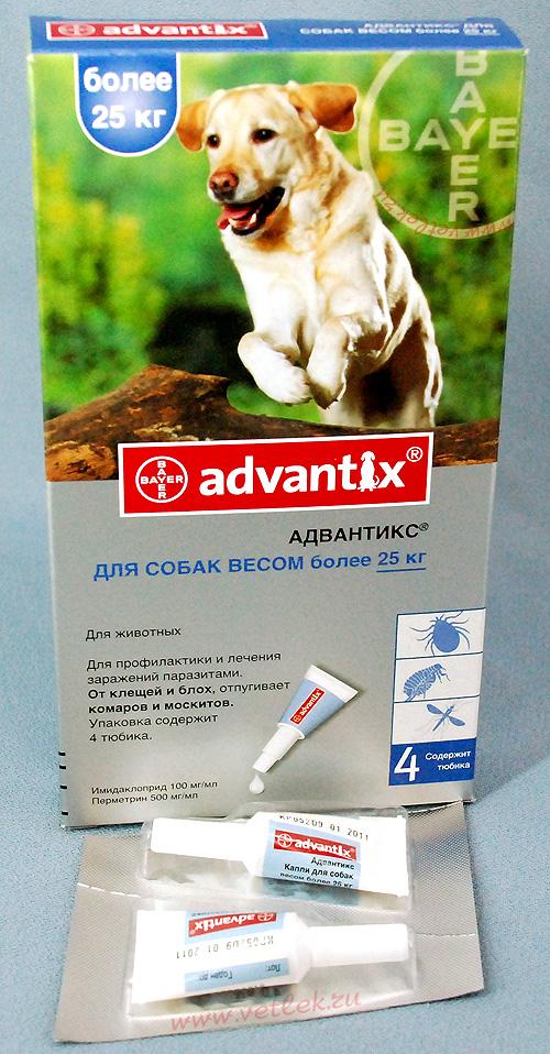 Адвантикс для собак инструкция: капли, цена, отзывы, дозировки