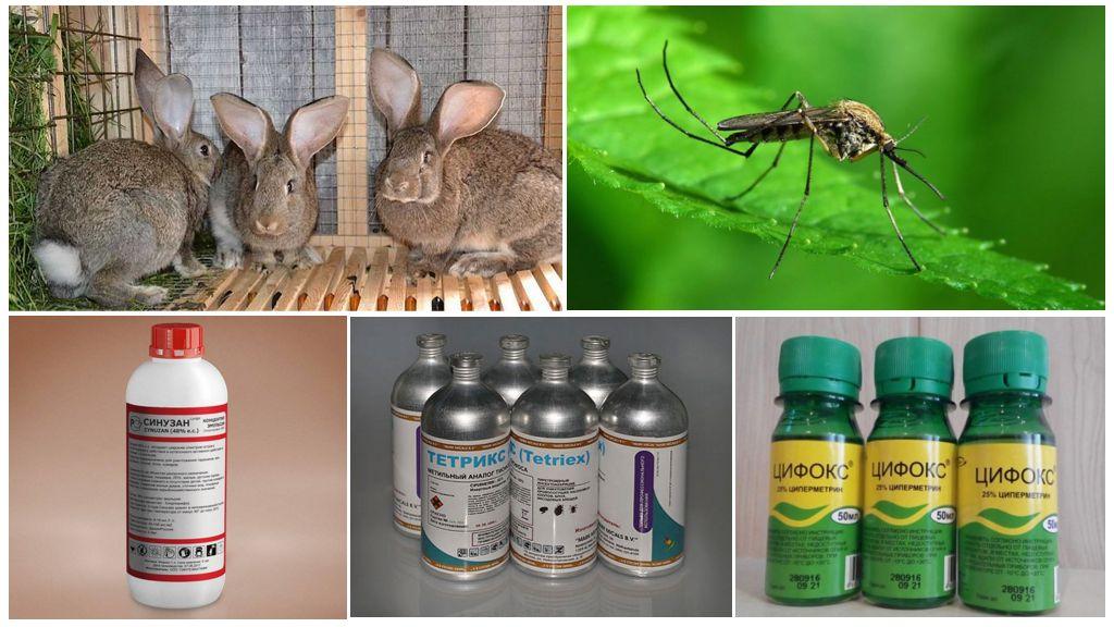 Как обезопасить кроликов от комаров