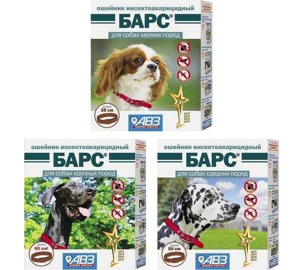 ошейник барс для собак от блох и клещей