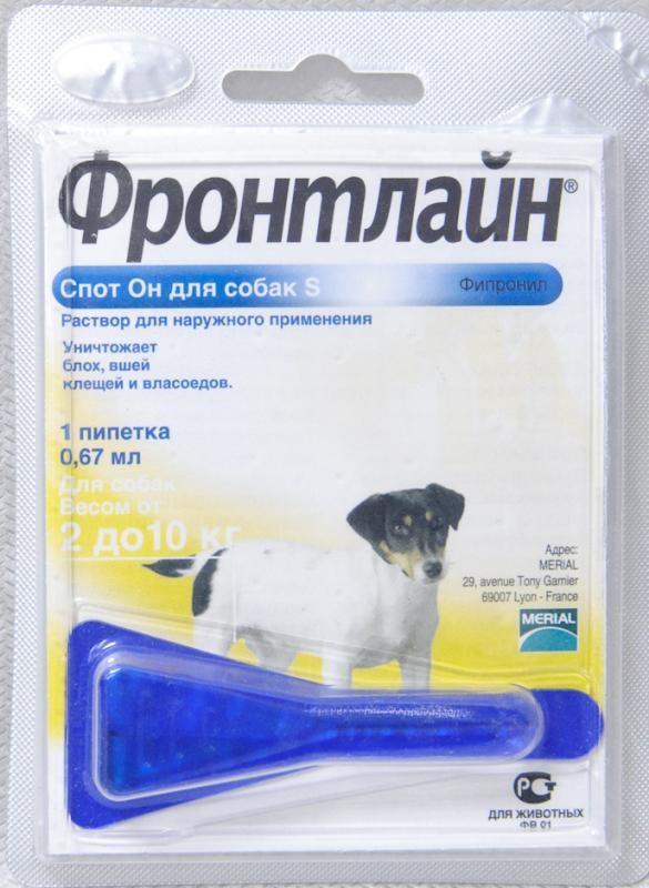 Спрей и капли фронтлайн от блох и клещей для собак и кошек