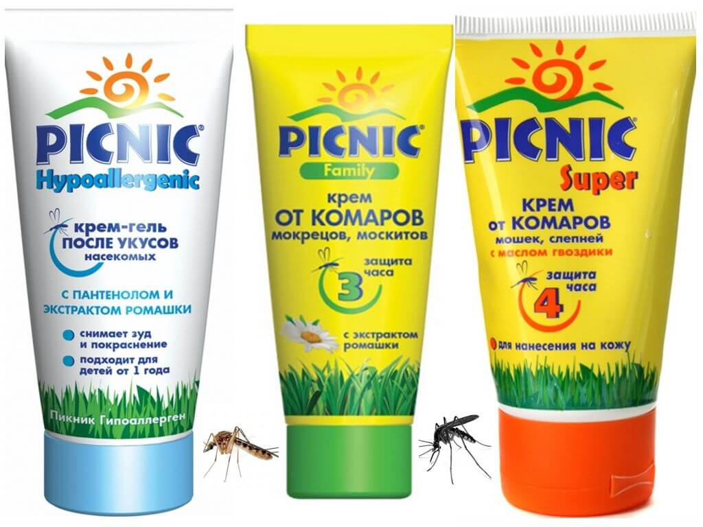 Средства пикник от комаров для детей и взрослых