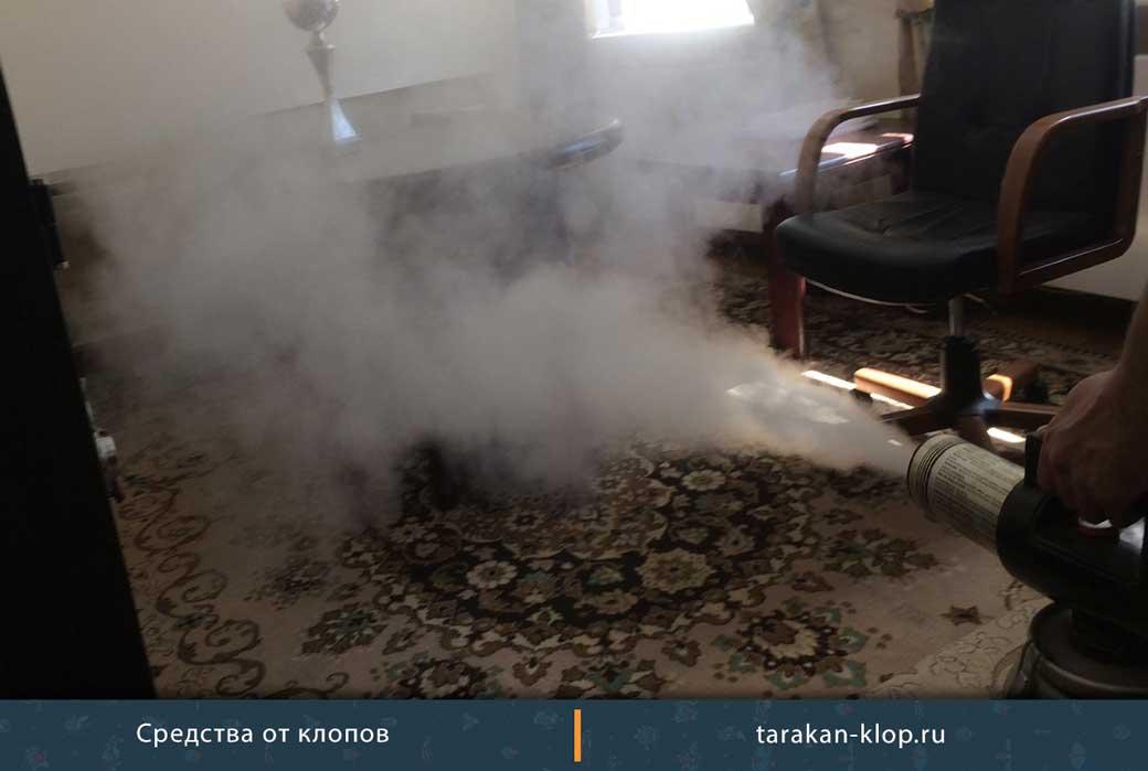Как действует обработка от клопов холодным туманом