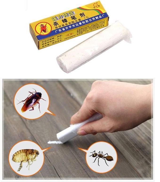 Распугать рисунками! мелки и карандаши от тараканов