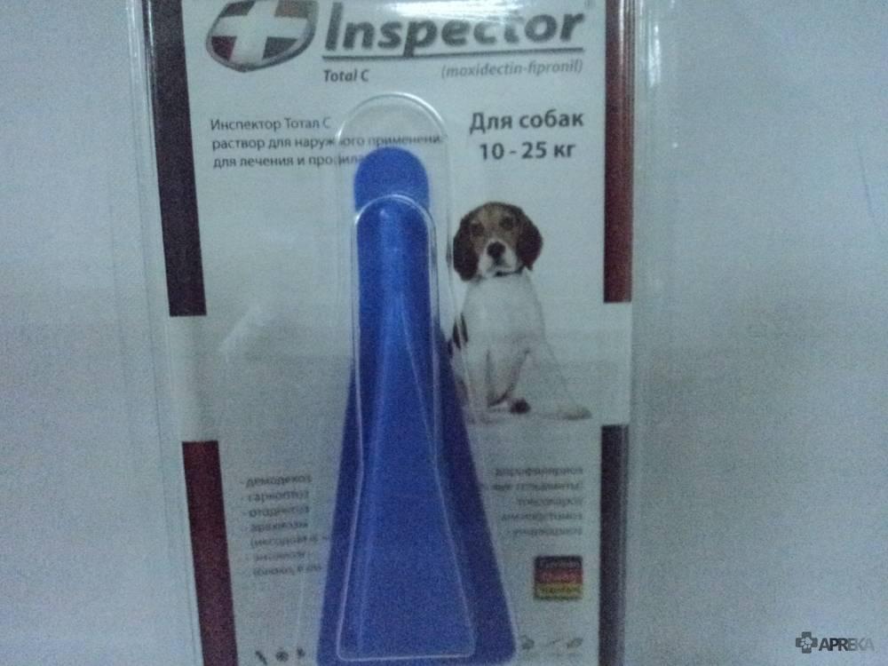 Капли от клещей для собак инспектор