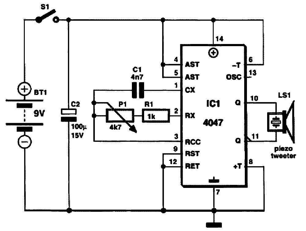 Схема электронного отпугивателя мышей и крыс, для сборки своими руками.