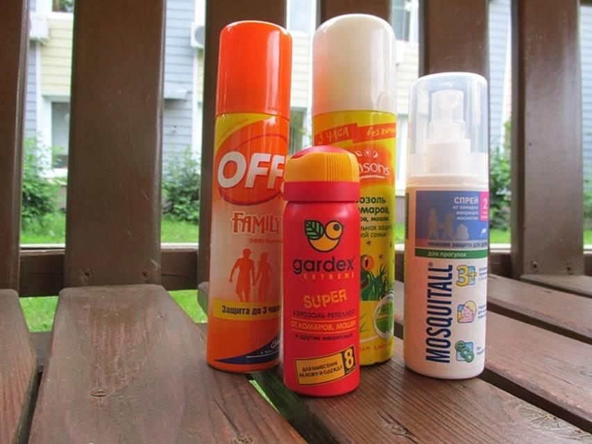 Спреи от комаров и клещей