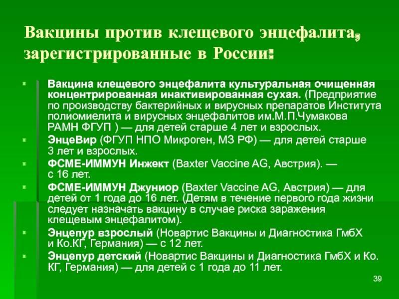 Прививка от клещевого энцефалита сколько действует