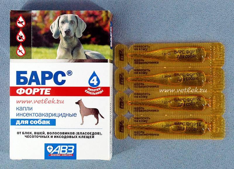Средства «барс» от клещей для собак