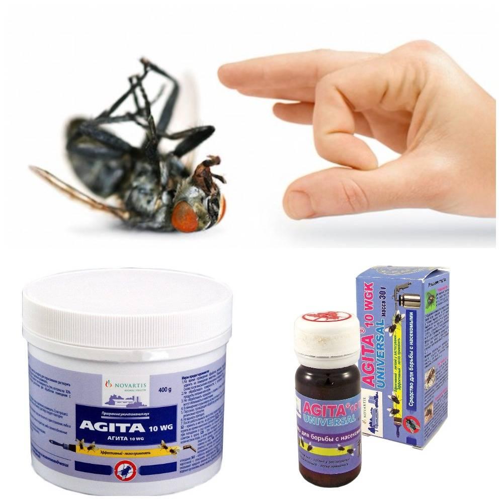 Использование средства от мух агита