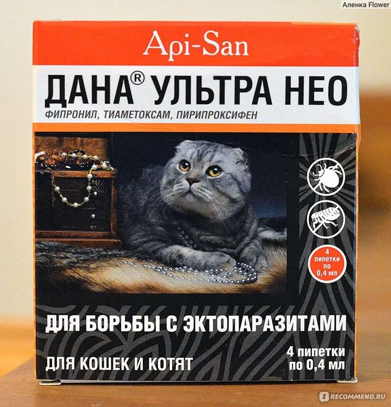 Капли на холку «дана ультра» для собак и кошек, инструкция по применению