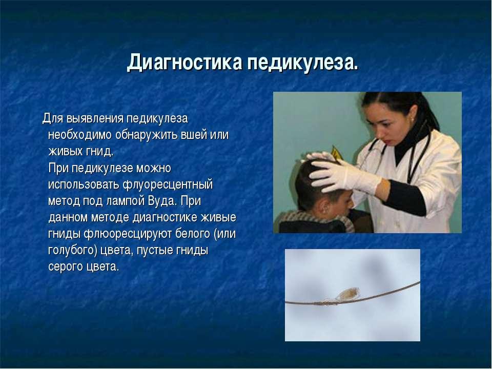Как проводят осмотр на педикулез пациентов в стационаре