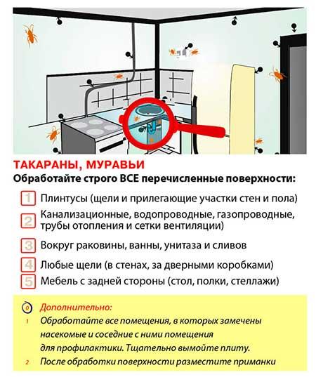 Обработка квартиры от тараканов: цена, отзывы
