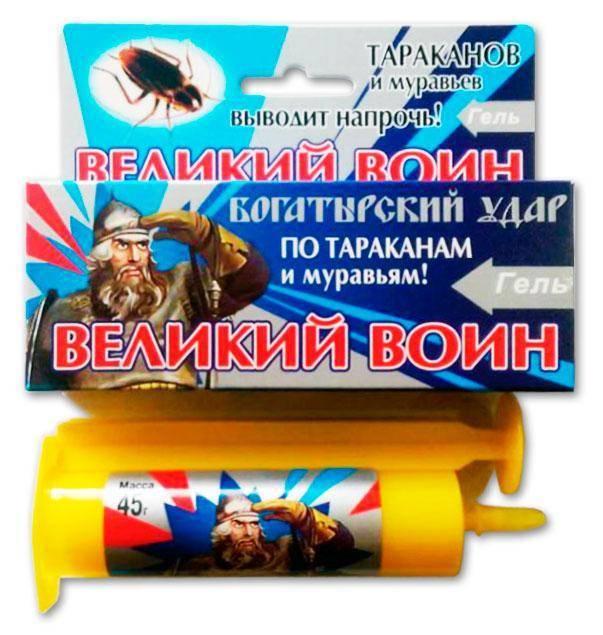 Инструкция по применению геля от муравьев великий воин, отзывы