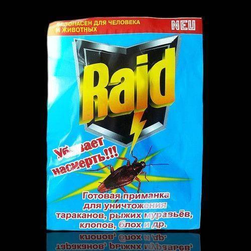Raid от клопов: описание и правила применения