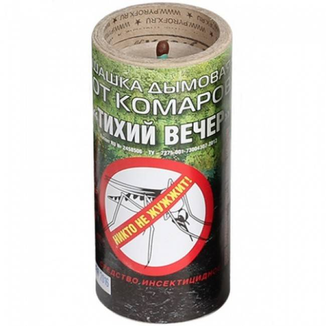 Дымовая шашка тихий вечер: применение против комаров и клопов
