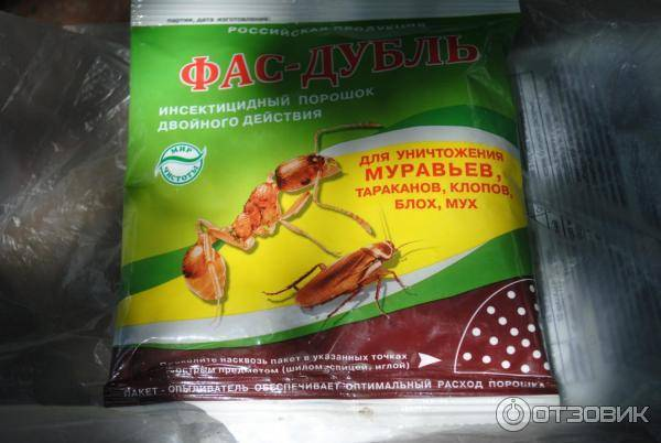 Фас дубль от муравьев - как использовать порошок